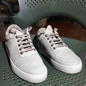 Filling Pieces Low Top Ripple Suede Perforated